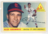 1955 Topps Baseball 21 Alex Grammas St. Louis Cardinals Excellent to Excellent Plus