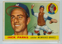 1955 Topps Baseball 23 Jack Parks Milwaukee Braves Good to Very Good