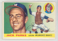 1955 Topps Baseball 23 Jack Parks Milwaukee Braves Excellent