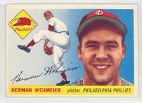 1955 Topps Baseball 29 Herman Wehmeier Philadelphia Phillies Excellent to Excellent Plus