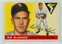 1955 Topps Baseball 32 Ed McGhee Chicago White Sox Very Good to Excellent