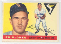 1955 Topps Baseball 32 Ed McGhee Chicago White Sox Excellent