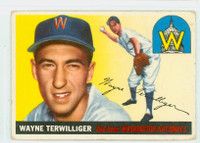 1955 Topps Baseball 34 Wayne Terwilliger Washington Senators Very Good