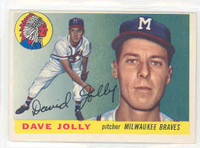 1955 Topps Baseball 35 Dave Jolly Milwaukee Braves Excellent to Excellent Plus