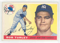 1955 Topps Baseball 38 Bob Turley New York Yankees Excellent