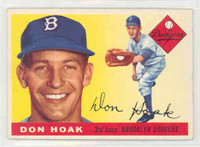 1955 Topps Baseball 40 Don Hoak Brooklyn Dodgers Excellent to Mint