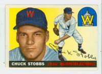 1955 Topps Baseball 41 Chuck Stobbs Washington Senators Very Good