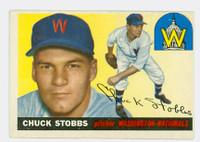 1955 Topps Baseball 41 Chuck Stobbs Washington Senators Excellent