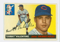 1955 Topps Baseball 44 Corky Valentine Cincinnati Reds Very Good to Excellent
