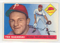 1955 Topps Baseball 46 Ted Kazanski Philadelphia Phillies Excellent to Excellent Plus