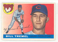1955 Topps Baseball 52 Bill Tremel Chicago Cubs Excellent to Excellent Plus