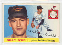 1955 Topps Baseball 57 Billy O' Dell Baltimore Orioles Excellent