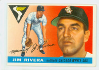 1955 Topps Baseball 58 Jim Rivera Chicago White Sox Very Good to Excellent