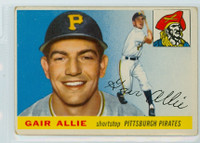 1955 Topps Baseball 59 Gair Allie Pittsburgh Pirates Very Good