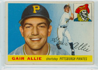 1955 Topps Baseball 59 Gair Allie Pittsburgh Pirates Very Good to Excellent
