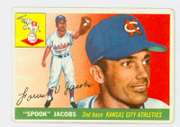 1955 Topps Baseball 61 Spook Jacobs Kansas City Athletics Good to Very Good