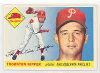 1955 Topps Baseball 62 Thornton Kipper Philadelphia Phillies Excellent to Mint