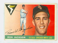 1955 Topps Baseball 66 Ron Jackson Chicago White Sox Good to Very Good