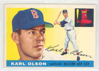 1955 Topps Baseball 72 Karl Olson Boston Red Sox Excellent to Excellent Plus