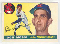 1955 Topps Baseball 85 Don Mossi ROOKIE Cleveland Indians Excellent