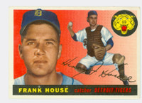 1955 Topps Baseball 87 Frank House Detroit Tigers Excellent to Mint