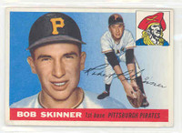 1955 Topps Baseball 88 Bob Skinner ROOKIE Pittsburgh Pirates Excellent to Excellent Plus