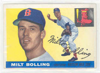 1955 Topps Baseball 91 Milt Bolling Boston Red Sox Very Good to Excellent