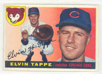 1955 Topps Baseball 129 Elvin Tappe Chicago Cubs Excellent