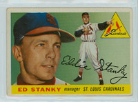 1955 Topps Baseball 191 Ed Stanky High Number St. Louis Cardinals Excellent