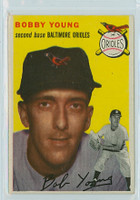 1954 Topps Baseball 8 Bobby Young Baltimore Orioles Excellent