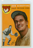 1954 Topps Baseball 76 Bob Scheffing Chicago Cubs Excellent to Excellent Plus