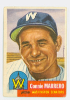 1953 Topps Baseball 13 Connie Marrero Washington Senators Very Good to Excellent