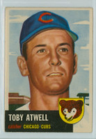 1953 Topps Baseball 23 Toby Atwell Chicago Cubs Very Good to Excellent