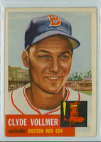 1953 Topps Baseball 32 Clyde Vollmer Single Print Boston Red Sox Excellent