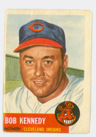1953 Topps Baseball 33 Bob Kennedy Cleveland Indians Good to Very Good