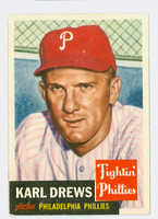 1953 Topps Baseball 59 Karl Drews Philadelphia Phillies Very Good