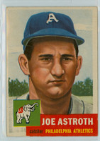 1953 Topps Baseball 103 Joe Astroth Philadelphia Athletics Very Good