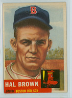 1953 Topps Baseball 184 Hal Brown Boston Red Sox Very Good to Excellent