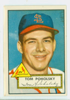 1952 Topps Baseball 242 Tom Poholsky St. Louis Cardinals Very Good to Excellent
