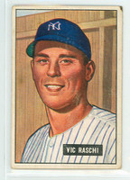 1951 Bowman Baseball 25 Vic Raschi New York Yankees Very Good
