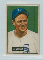 1951 Bowman Baseball 35 Al Zarilla Chicago White Sox Very Good to Excellent