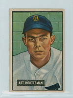 1951 Bowman Baseball 45 Art Houtteman Detroit Tigers Very Good