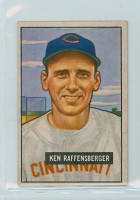 1951 Bowman Baseball 48 Ken Raffensberger Cincinnati Reds Very Good to Excellent