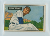1951 Bowman Baseball 69 Johnny Schmitz Chicago Cubs Very Good