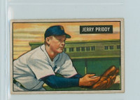 1951 Bowman Baseball 71 Jerry Priddy Detroit Tigers Good to Very Good