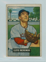 1951 Bowman Baseball 72 Lloyd Merriman Cincinnati Reds Very Good