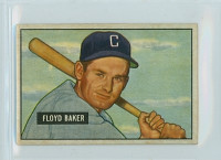 1951 Bowman Baseball 87 Floyd Baker Chicago White Sox Excellent