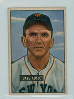 1951 Bowman Baseball 90 Dave Koslo New York Giants Very Good