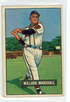 1951 Bowman Baseball 98 Willard Marshall Boston Braves Excellent