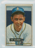 1951 Bowman Baseball 120 Joe Coleman Philadelphia Athletics Excellent
